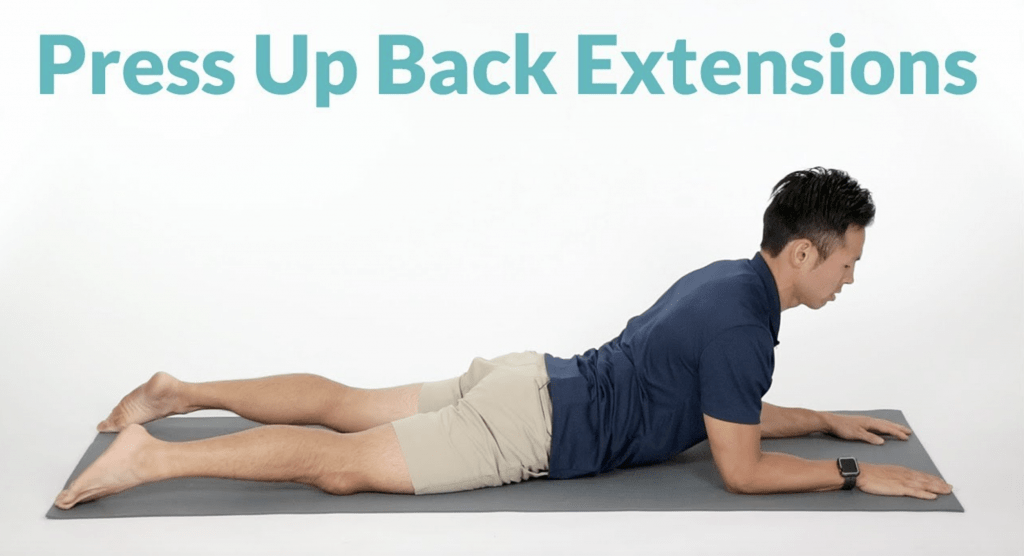 press up back extension 1024x556 - The best and worst exercises for back pain