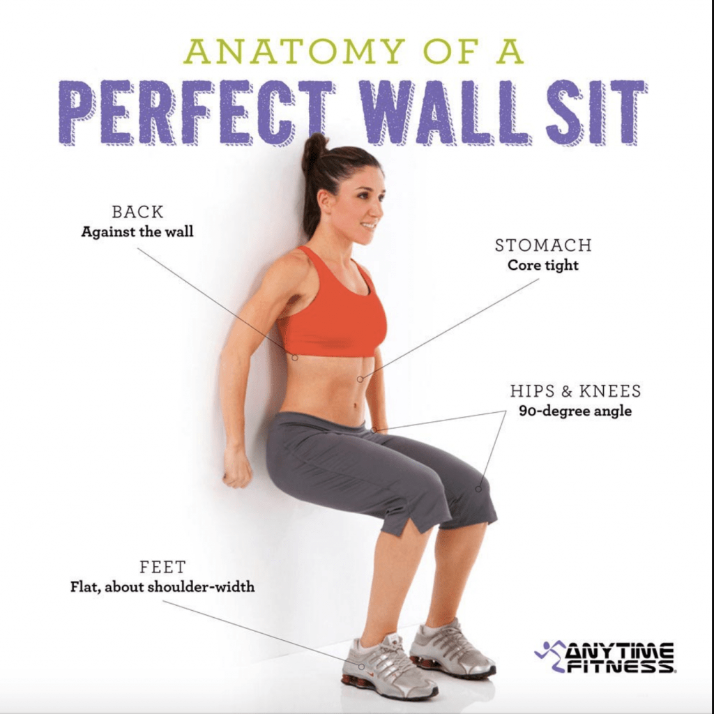 wall sit exercise  1024x1024 - The best and worst exercises for back pain